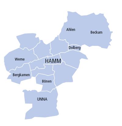 Karte Hamm